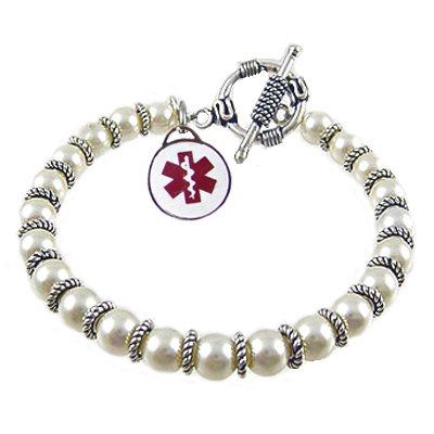 Pearls of Joy Medical Charm Bracelets