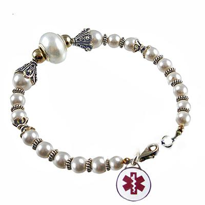 Pastel Crystal Ice Medical Charm Bracelets