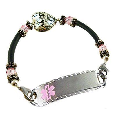 Hearts Embrace medical alert bracelet,  Creative Medical ID