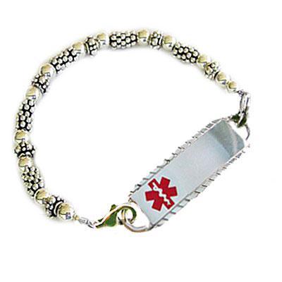 Silver Shimmer Petite Medical Bracelets