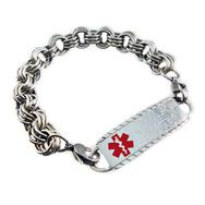 Ladies Stainless Medical Bracelet