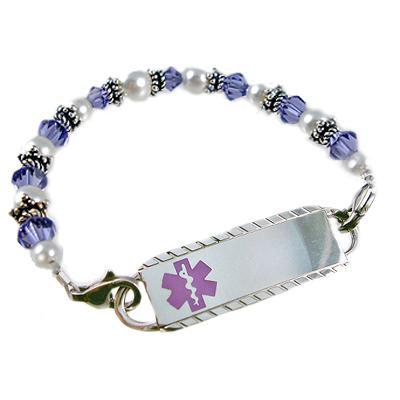 Medical Alert beaded bracelet