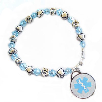 Girls Beaded Medical Charms