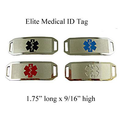 Item# EMRT- Elite Mens Replacement Medical ID Tag - No chain