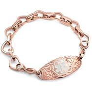 Baubles stainless medical id bracelet, engraved medical tag