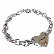 Heart & Soul Medical ID Bracelet for Girls