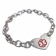 Stainless Heart Soul Medical Id Bracelet