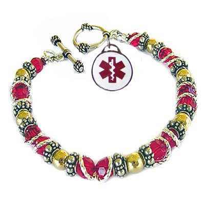 Jewels of Joy Two-Tone Medical Charm Bracelets