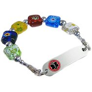Flower Power Medical ID Bracelet