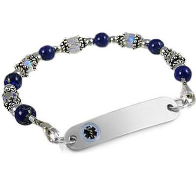 Calming Lapis Medical ID Bracelets