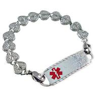 Elite Heart Links medical id bracelet and engraved tag