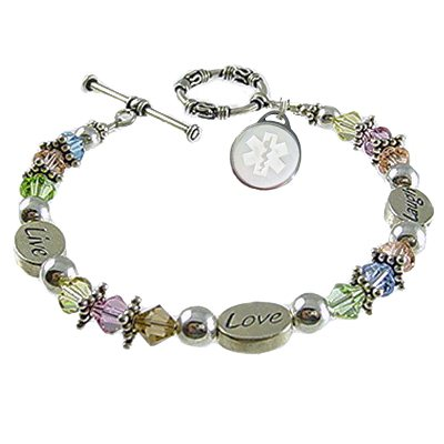 Pastel Messages Medical Charm Bracelets