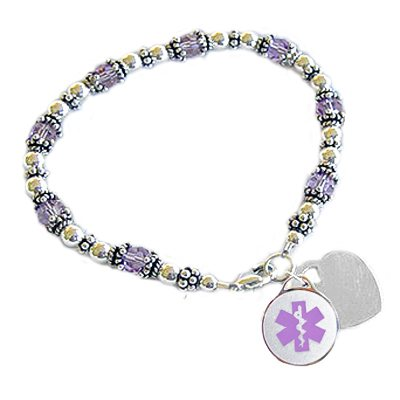 Silver Cherished Love Medical Charm Bracelets