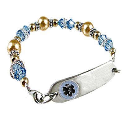 Aqua Petite Medical Bracelets
