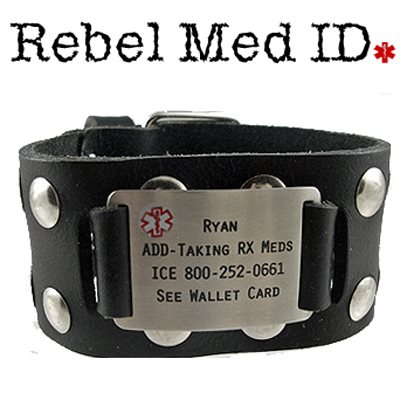 Jammin Studded Leather Medical Band