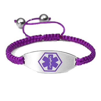 Macrame Medical ID Bracelet