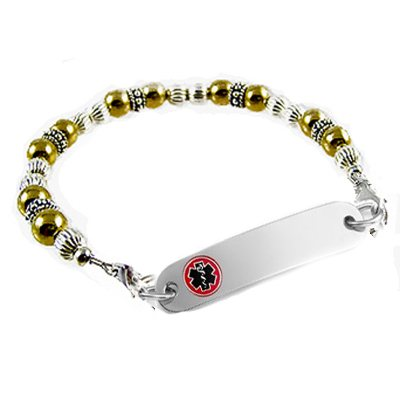 Classic Two Tone Medical ID Bracelets