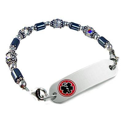 Hematite Petite Medical Bracelets