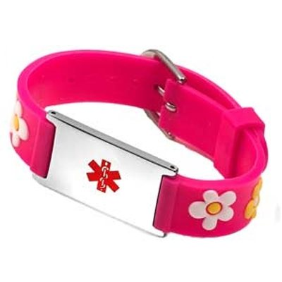 Childrens Medical ID Rubber Bracelets