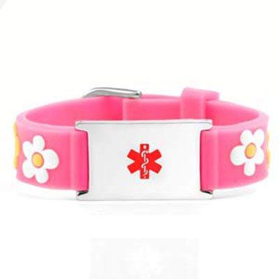 Childrens Medical ID Rubber Bracelets