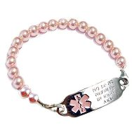 Pink Pearl Medical ID Jewelry