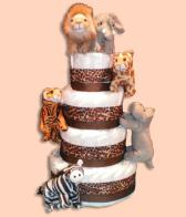 At The Zoo Diaper Cake