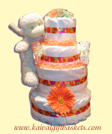 Baby Kong Diaper Cake-Baby Shower Gifts