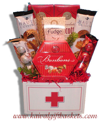 First aid get well gift baskets first aid gift basket montreal negle Image collections
