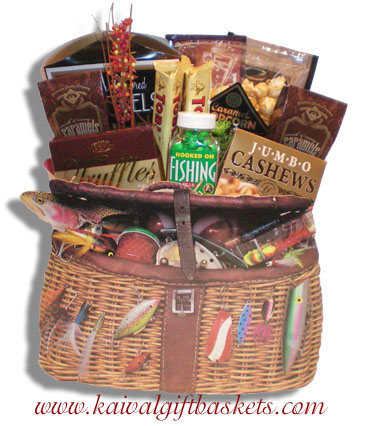 Fishing tackle gift bag fishing gift basket canada negle Image collections
