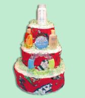 Hockey Diaper Cakes