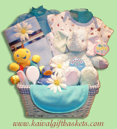 Little Man Baby Gift Basket