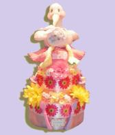 Special Delivery Girl Diaper Cakes - Free Delivery
