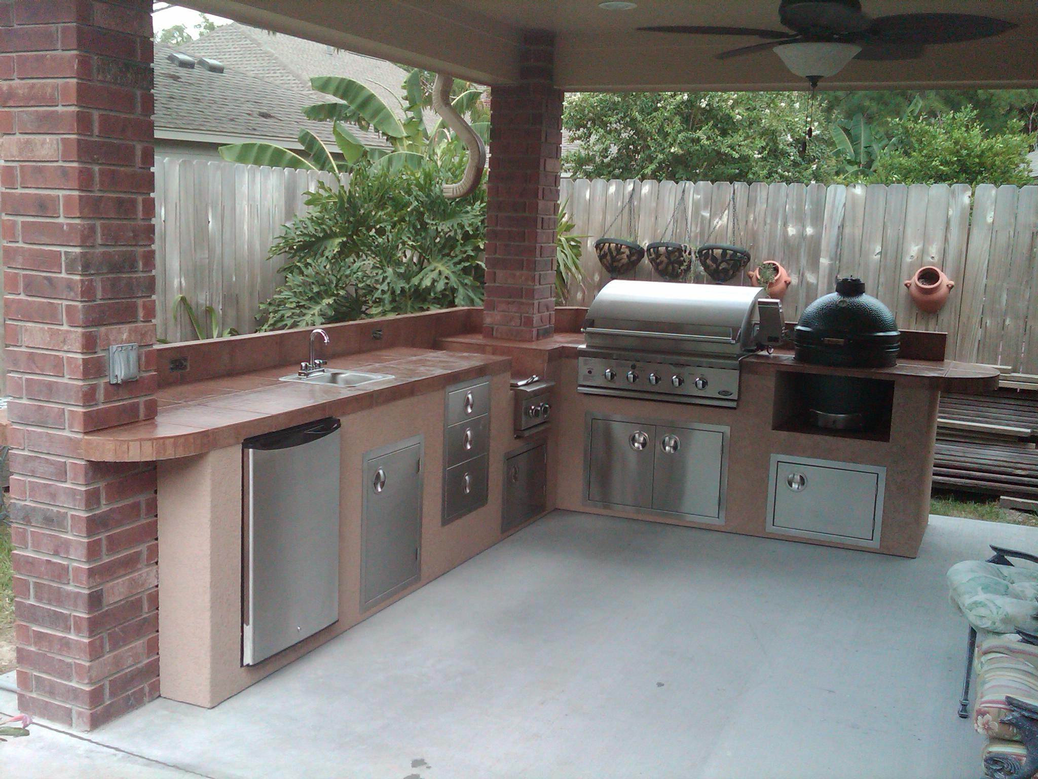 Outdoor Kitchen Under Patio Cover Houston Tx