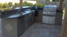 Outdoor Kitchen with Big Green Egg & Outdoor Kitchen Equipment Houston Outdoor Kitchen Gas Grills ...