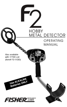 Fisher F2 Metal Detector & Accessories