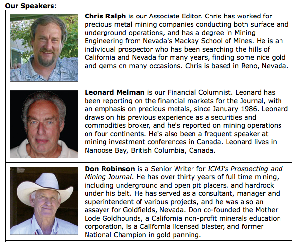 GOLD PROSPECTING AND MINING SUMMIT
