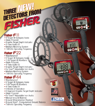 New Fisher Metal Detectors F Series