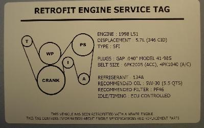 ls1 gto belt diagram 2006 pontiac gto ls2 engine swap underhood service decal  2006 pontiac gto ls2 engine swap