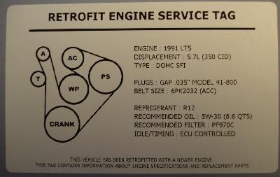 lt5 engine diagram 1990 corvette lt5 engine swap underhood service decal  1990 corvette lt5 engine swap underhood