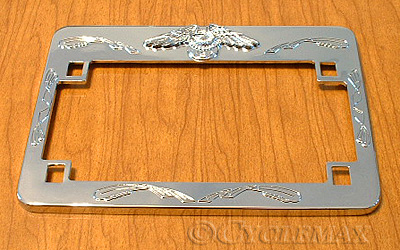 GL1800 Chrome Eagle License Plate Frame