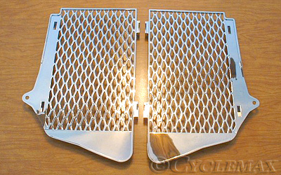 Goldwing GL1800 Show Chrome Big Bike Parts Chrome Radiator Grilles