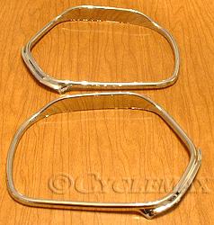 Goldwing GL1800 Chrome Visored Mirror Trim
