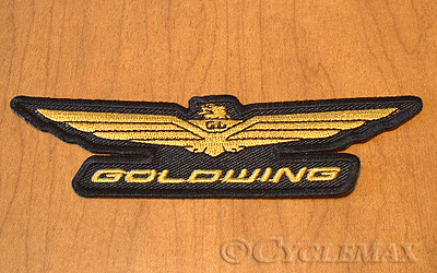 goldwing gold logo patch rh cyclemax com logo goldwing 1100 logo goldwing 1800