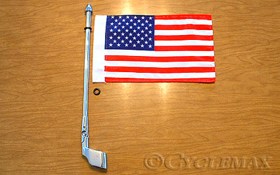 Antenna Mount Flag Pole with Flag