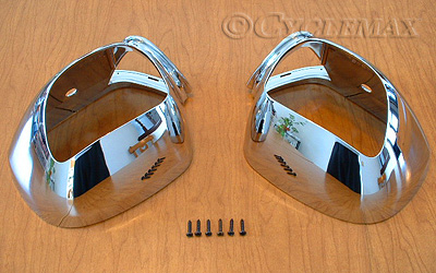 Goldwing GL1800 Add On Chrome Mirror Housings