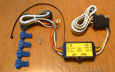 5 to 4 pin trailer harness converter rh cyclemax com  5 pin trailer wiring harness diagram