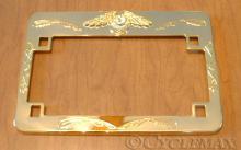 GL1800 Gold Eagle License Plate Frame