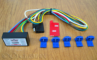 VIP 5 to 4 Wire Trailer Harness Converter On A Wire Trailer Harness on 7 wire trailer harness, three wire trailer harness, 6 wire trailer harness, 4 wire plug connector, wiring harness, five wire trailer harness,