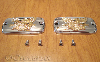 GL1800 Chrome Gold Free Spirit Eagle Master Cylinder Covers