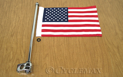 Goldwing Flag Pole with American Flag